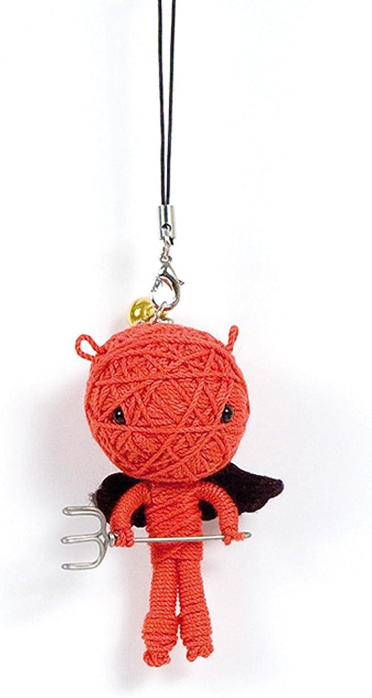 dise/ño de demonio Mu/ñeca de port/átil color rojo bolsa Vodoodoo ail/é Llavero