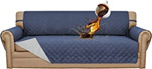 Easy-Going 100% Waterproof Sofa Slipcover Sofa Cover Furniture Protector Couch Cover Pets Covers Whole Fabric No Stitching Slip Resistant Non-Slip Fabric Pets Kids Children Dog Cat (Sofa,Navy)
