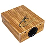 Mugig Travel Cajon, Portable hand drum, Small and cute, Easy to carry, Birch Wood Cajon Drum Box with string structure inside for Drummers Traveling Musicians, Gecko.
