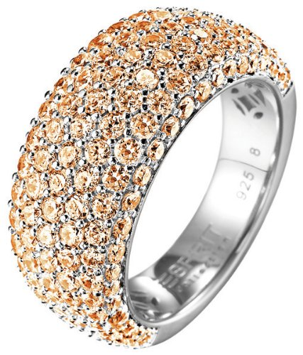 ESPRIT Women's Amorana Summer 925 Sterling Silver Ring Orange P 1/2 silver by Esprit