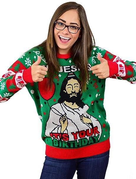 Kersttrui Man.Amazon Com Tstars Go Jesus It S Your Birthday Funny Men Women