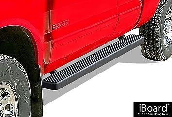 "iBoard Running Boards 5/"" Black Fit 99-16 Ford F250//F350 SuperDuty Super Cab"