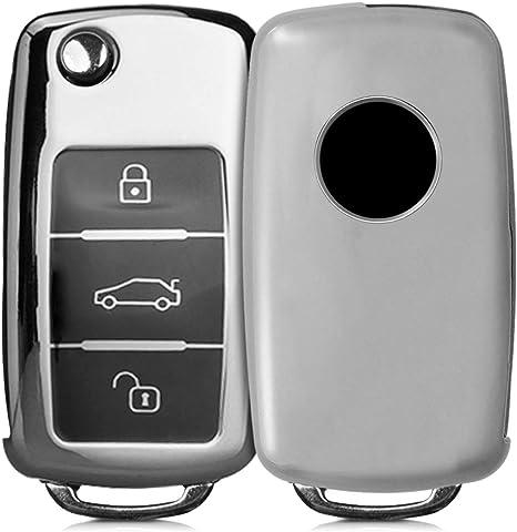kwmobile Cover per VW Skoda Seat Custodia Mascherina per Chiave VW Skoda Seat con 3 Tasti Guscio Protettivo coprichiave in plastica Rigida