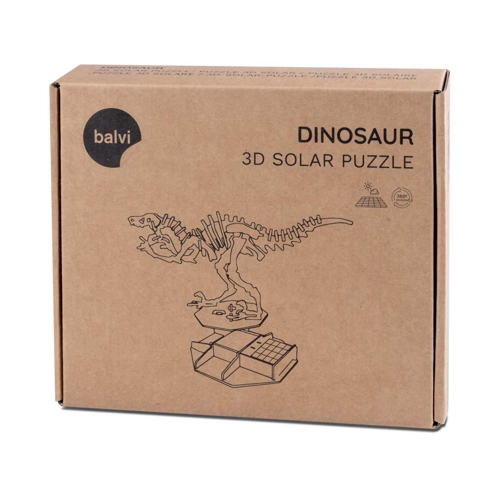 Balvi Puzle 3D Da Vinci Kit para Montar maqueta del Hombre De Vitruvio con Movimiento Funciona con luz Solar Madera 27 cm