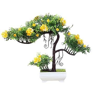Zhhlinyuan Künstliche Blumen Emulieren Pflanze Bonsai Baum ...