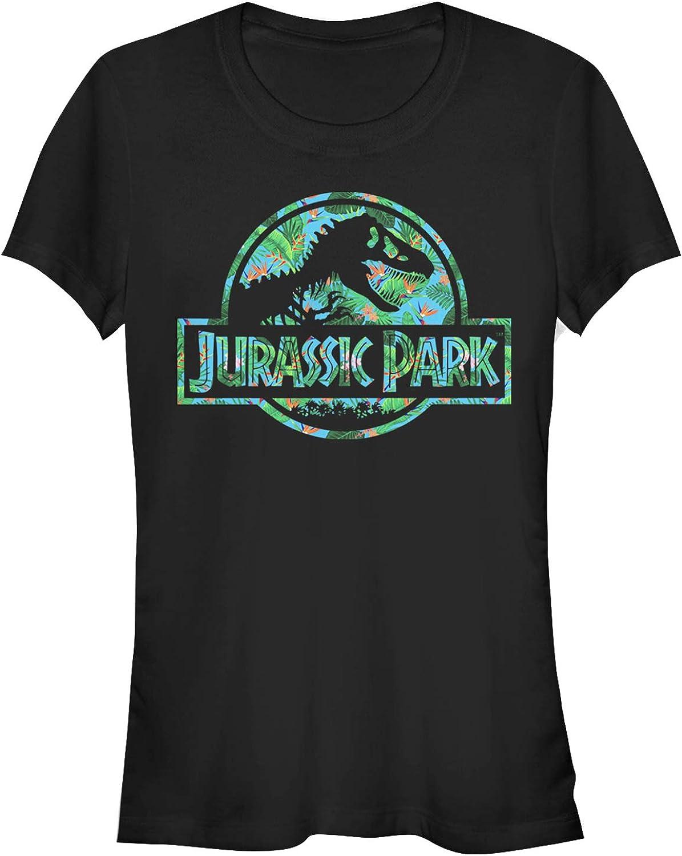 Jurassic Park Juniors Floral T Rex Logo T-Shirt