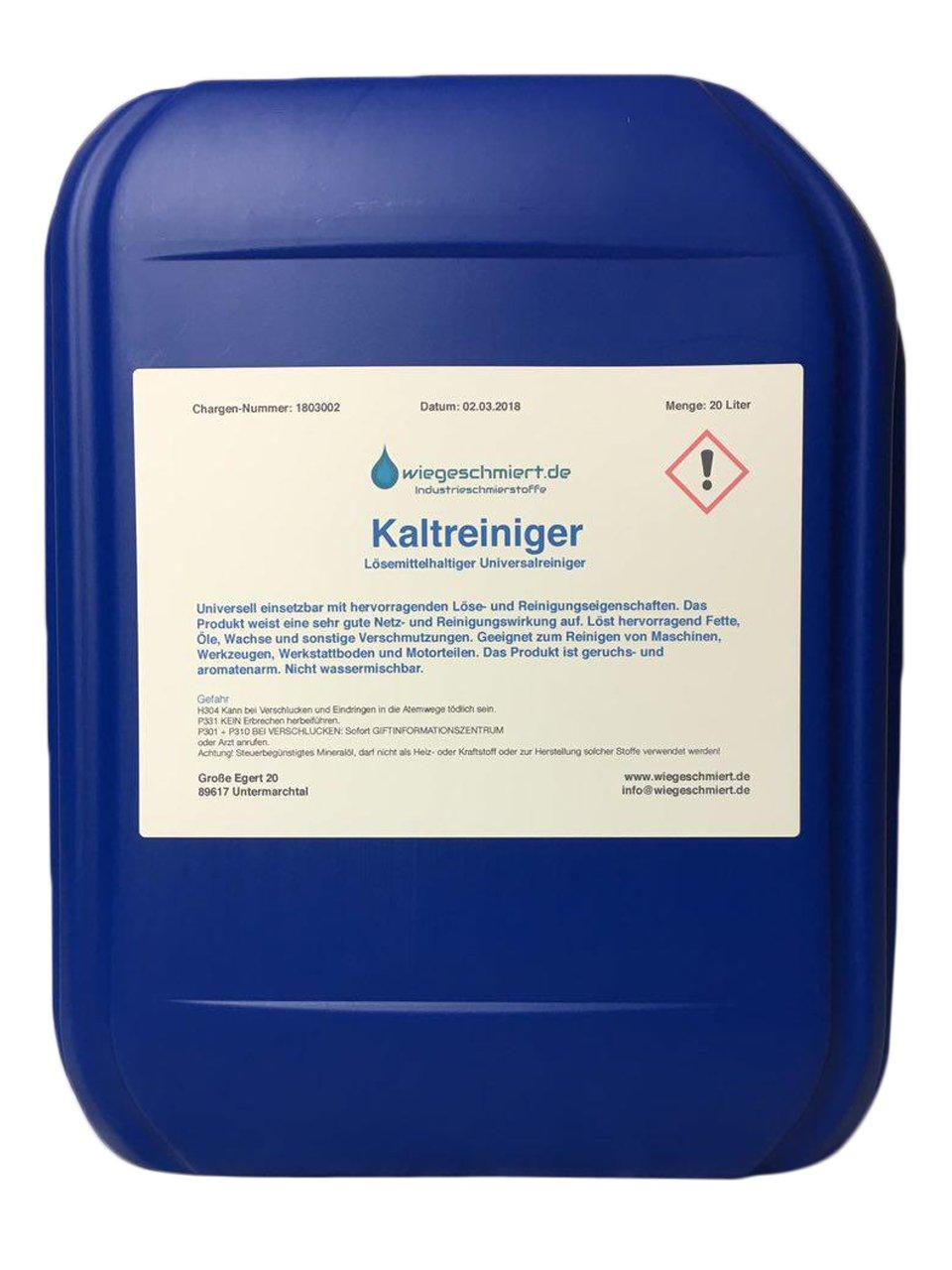 Kaltreiniger Maschinen & Anlagenreiniger (20 Liter): Amazon.de: Auto