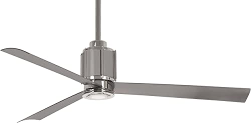54 Minka Aire Gear Polished Nickel LED Ceiling Fan