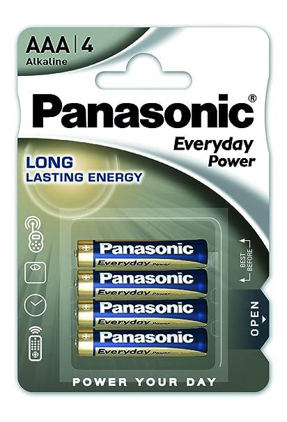 Panasonic Blister 4 Pilas Alcalinas AAA LR03 Everyday Power ...