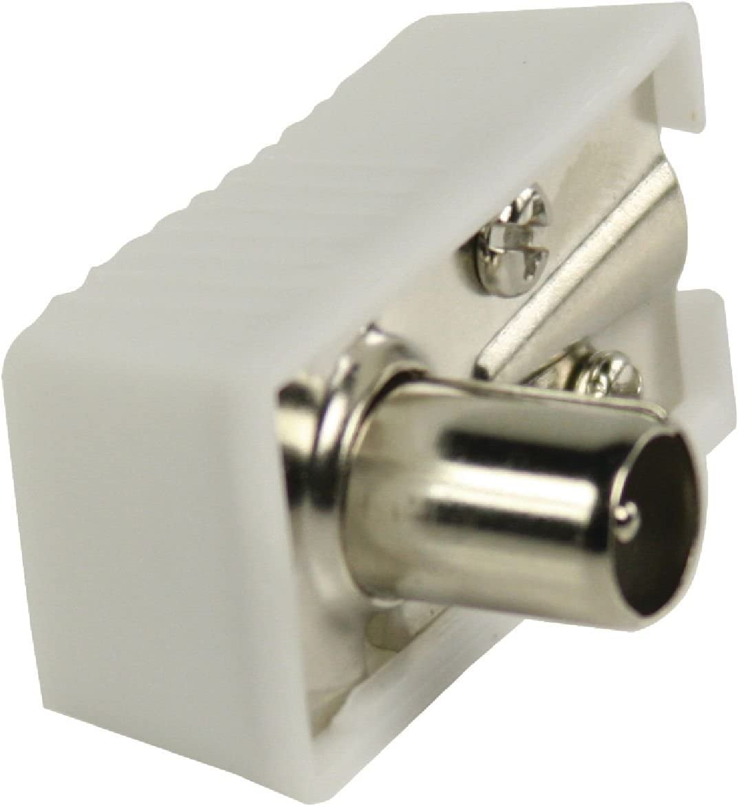 Valueline Vlsp40900w Koax Winkelstecker Weiß Elektronik