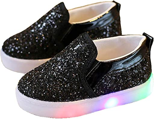 Daclay Girls Breathable LED Shoes Kids