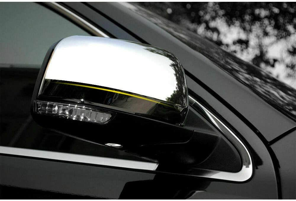 GHXSport Top Half Chrome Door Side Mirror Cover for 2011-2017 Jeep Grand Cherokee//Dodge Durango