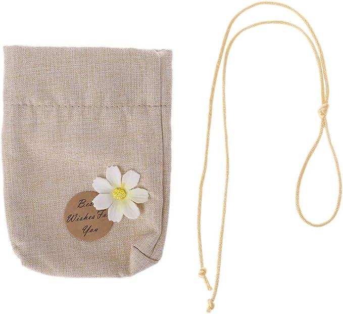 Wanghuaner Bolsas de bolsita elegantes Bolsa de muselina de lino de algodón Reutilizable Regalo de regalo para bricolaje Hierbas artesanales Té Popurrí: Amazon.es: Salud y cuidado personal