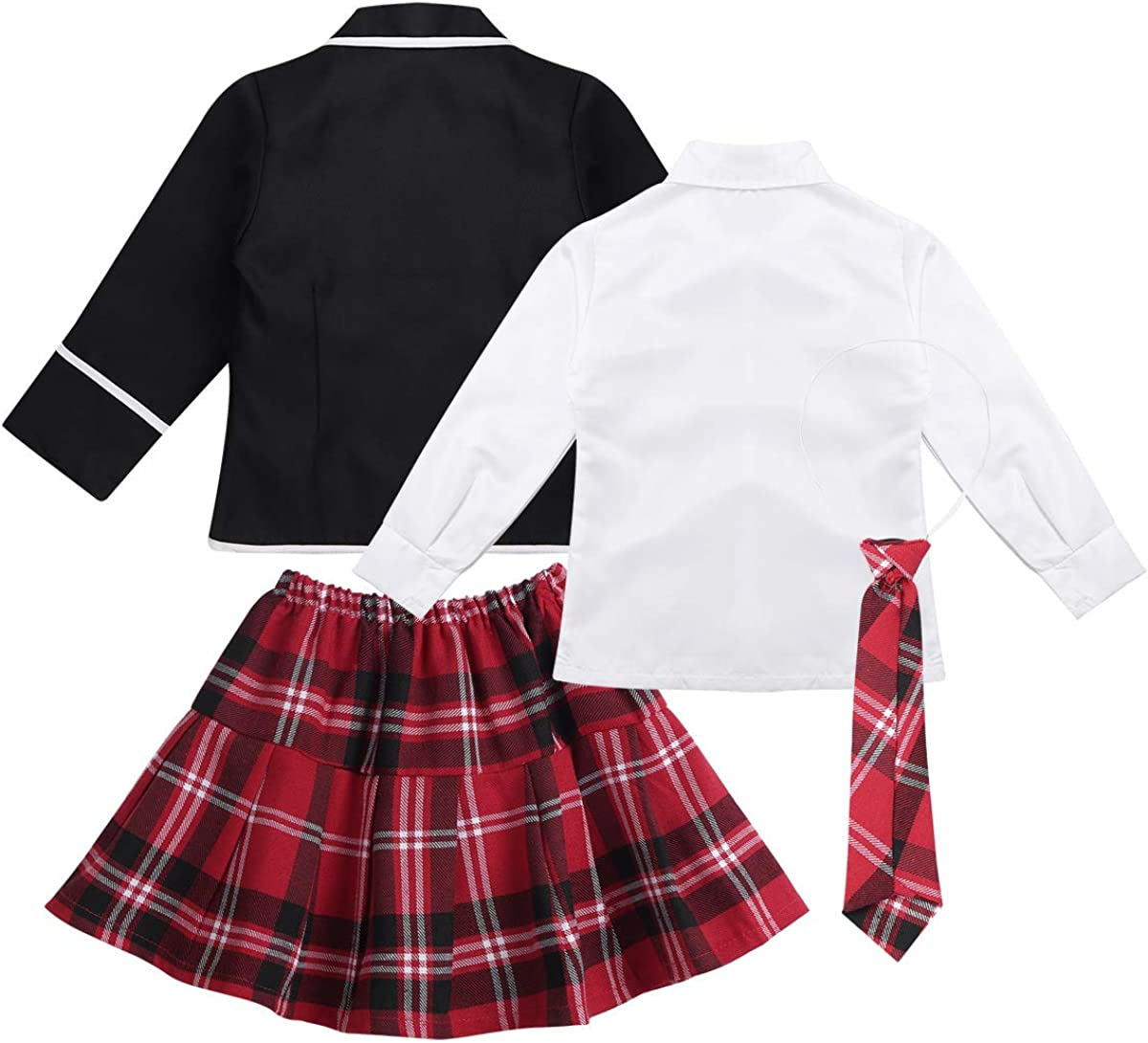 ACSUSS Kids Girls Korea British Japan School Uniforms Outfits Japanese School Girls Anime Costume Dress Clothes Set