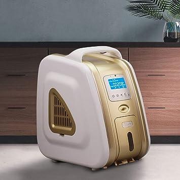 HUKOER Concentrador de oxígeno de oro 1-5 l/min Generador de ...