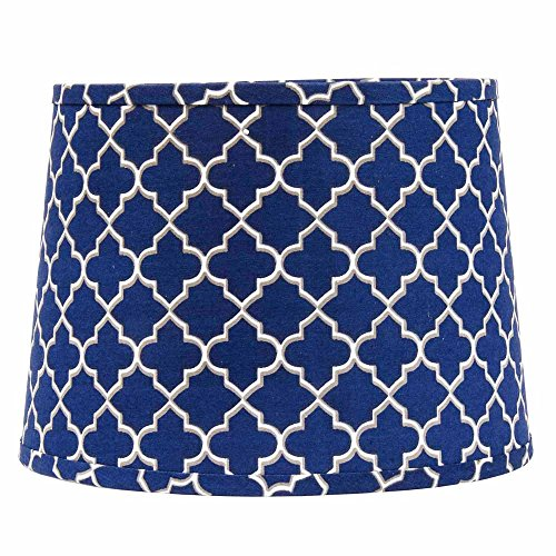 Home Collection by Raghu 6D330052 Quatrefoil Washer Drum Lampshade, 16