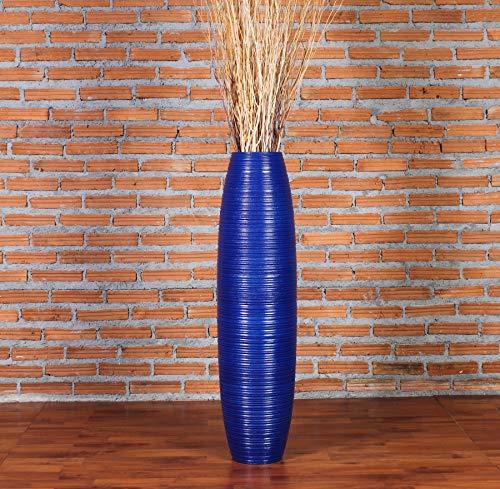 Leewadee Tall Floor Vase, 12x44 inches, Wood