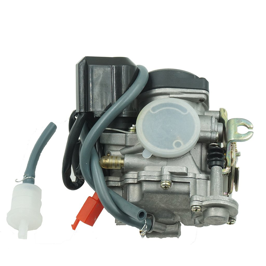 Glixal ATMT1-073-1 GY6 49cc 50cc 80cc 100cc 20mm Big Bore CVK Carburetor with Electric Choke for Chinese Scooter Moped ATV Go Kart Quads Buggy 139QMB 1P39QMB Engine Carbs by Glixal
