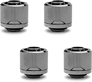 "EKWB EK-Quantum Torque STC-10/16 Compression Fitting for Soft Tubing, 10/16mm (3/8"" ID, 5/8"" OD), Black Nickel, 4-Pack"