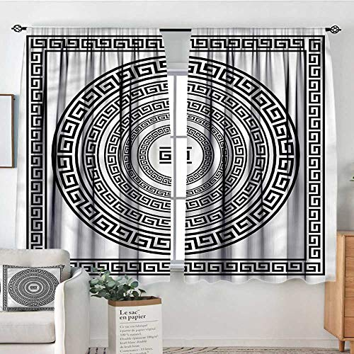 Sanring Greek Key,Customized Chid Curtains Antique Frame Set 42