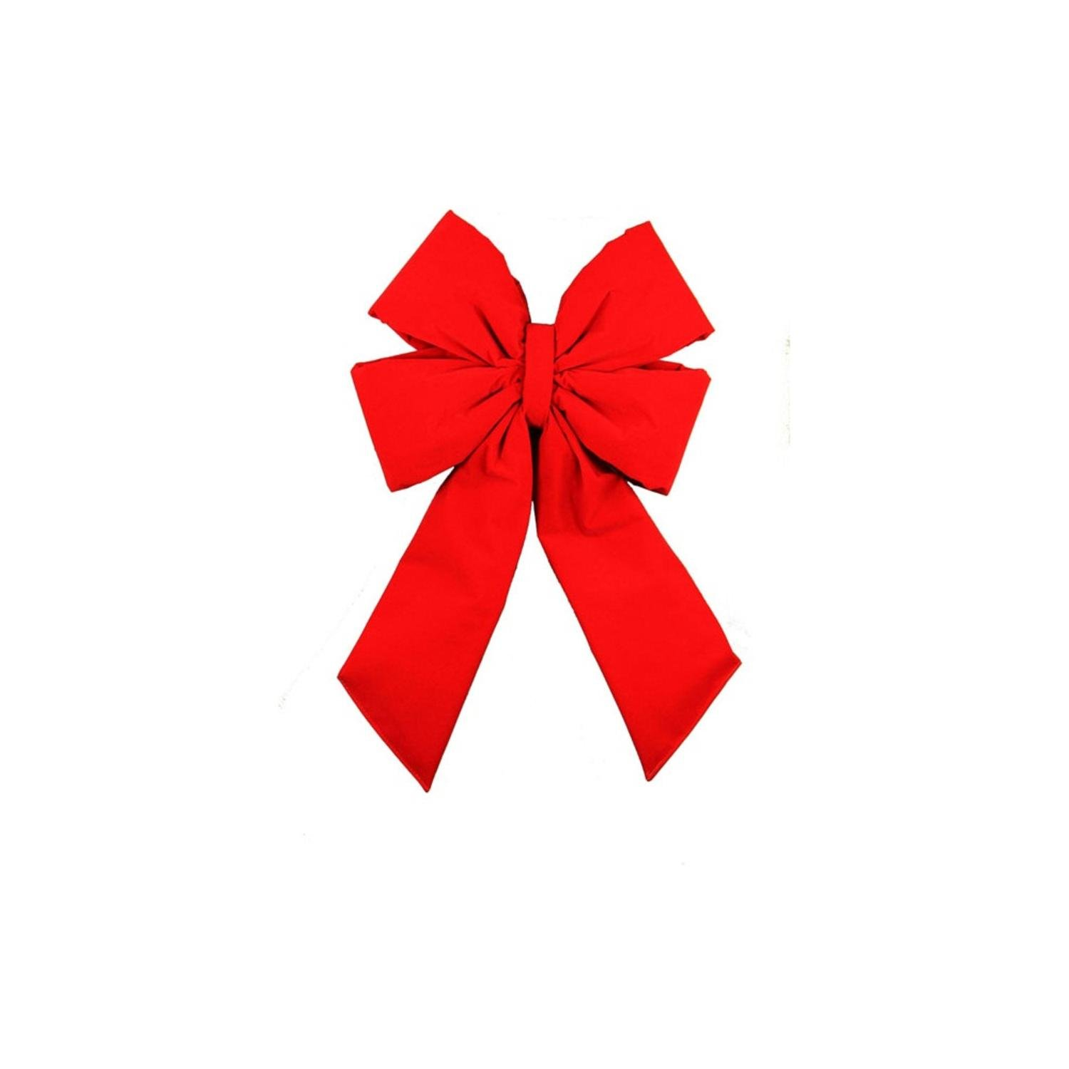 Dyno Commercial 4'' Loop Velveteen Christmas Bow Decoration, 11'' x 20'', Red