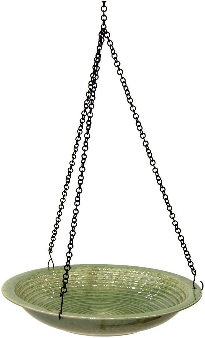 Byer of Maine Circle Hanging Bird Bath, Green