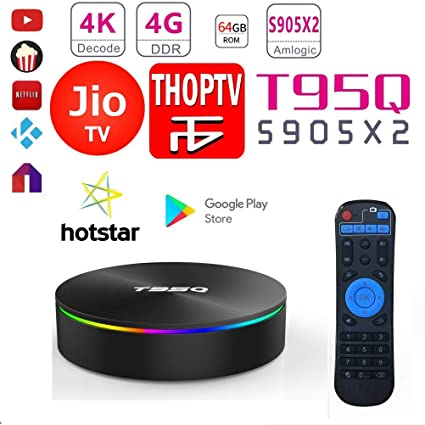 SreeTeK Android Box T95Q 4GB 64GB Android Box for TV, JIO TV HotStar