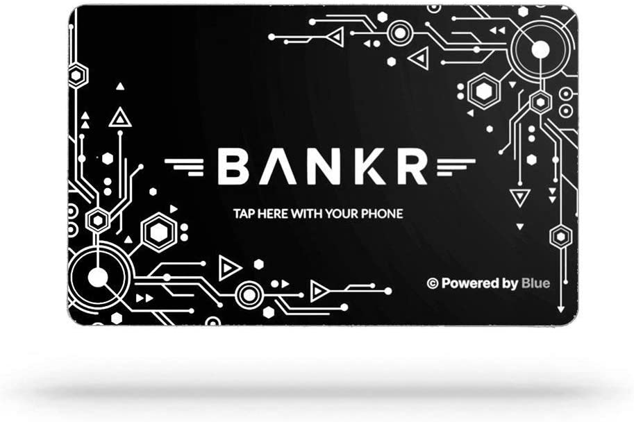 Bankr Social Smart Business Card Wireless Contact Sharing White