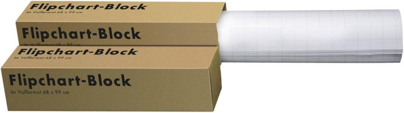80 g//qm Landre 100050592 Flip-Chart-Bl/öcke Vollformat 68 x 99 cm 20 St/ück 20 Blatt 4 Kartons