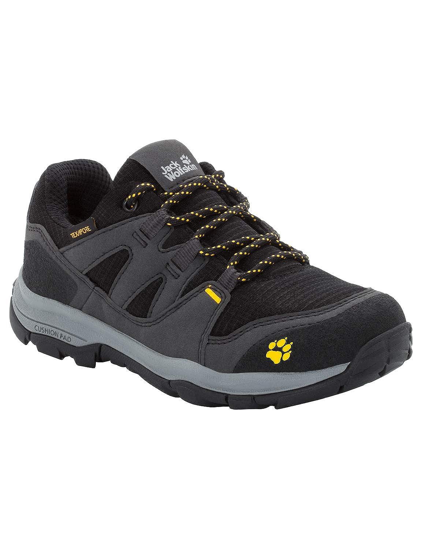 (Burly jaune Xt 3802) 35 EU Jack Wolfskin MTN Attack 3 Texapore Faible K imperméable, Chaussures de Randonnée Basses Mixte Enfant