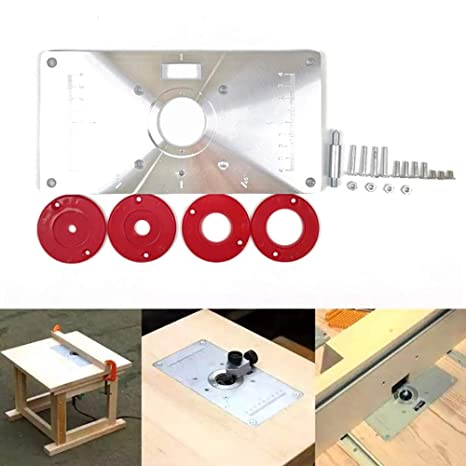 Kkmoon Multifunctional Router Table Insert Plate Woodworking