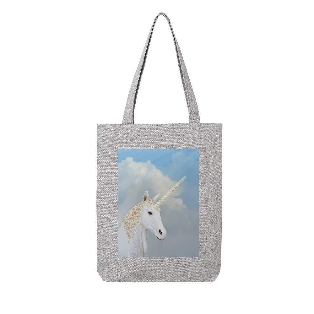 access-mobile-ile-de-re.fr Tote bag en toile recycle gris licorne 4