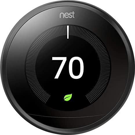 Nest 9750016 T3016US Thermostat, 3.3 x 1.2 x 3.3, Black, Building ...
