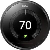 Nest 9750016 T3016US Thermostat, 3.3 x 1.2 x 3.3, Black