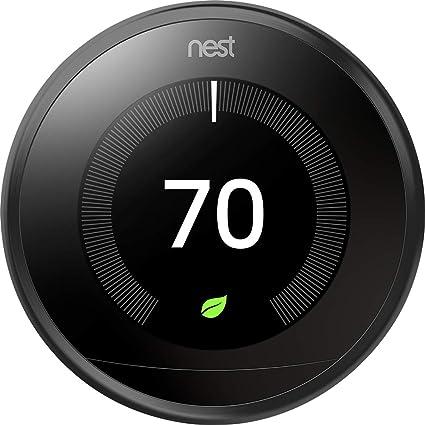 Nest Labs Aprendizaje profesional versión 3ª generación termostato, negro de carbón (T3016Us)