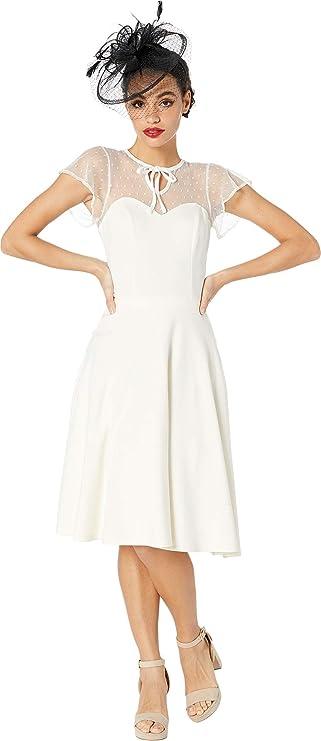 Vintage Dresses Australia- 20s, 30s, 40s, 50s, 60s, 70s Unique Vintage Womens 1940s Style Swiss Dotted Mesh Heather Midi Dress AUD 314.56 AT vintagedancer.com