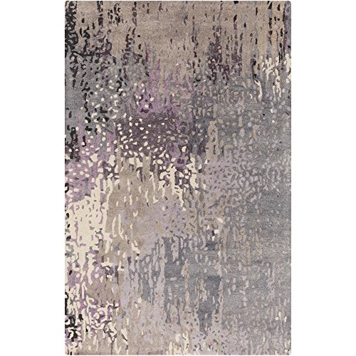 - Surya SRD2006-58 Serenade Area Rug, 5' x 8', Dark Purple/Taupe/Bright Purple/Denim/Cream/Black