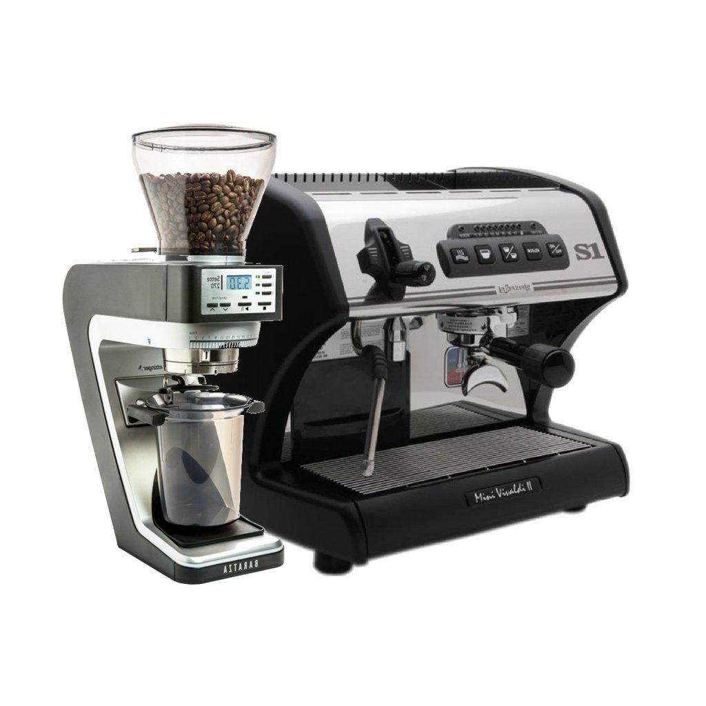 La Spaziale Mini Vivaldi (Black) Espresso Machine, Baratza Sette Grinder Bundle by La Spaziale