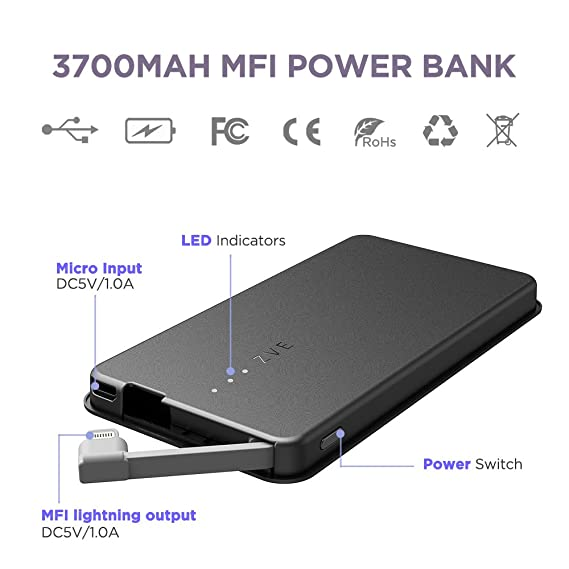 amazon com zvepower power bank compatible with iphone extended rh amazon com