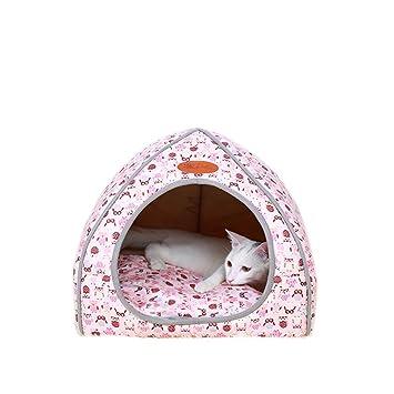 HongYH Cama para perro cálida de invierno para gatos, impermeable, pequeña tienda de animales