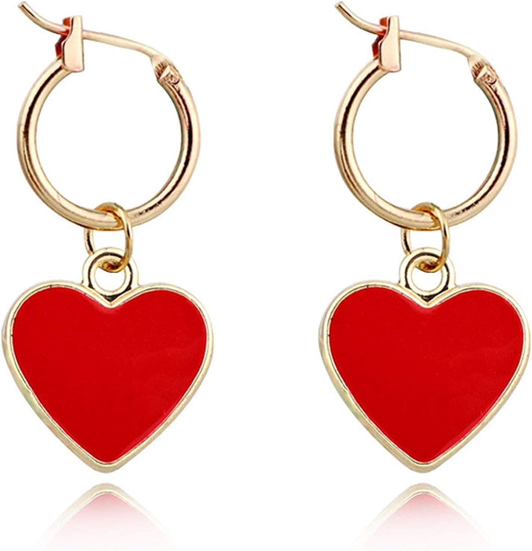 14K Gold Plated Huggie Hoop Earrings for Women and Girls Ball|Heart|Disc Dangle Small Bohemian Beaded Sleeper Earrings Hypoallergenic Jewelry Gift for Her