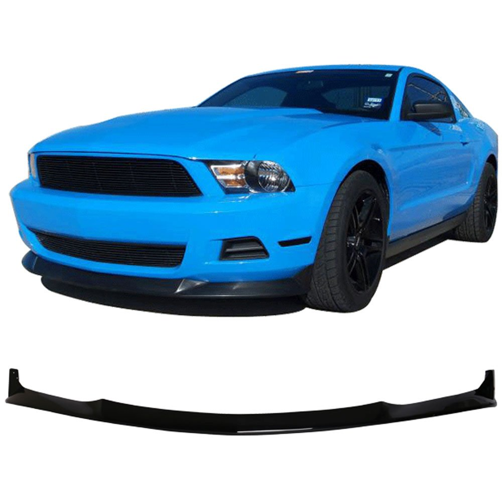 10-12 Ford Mustang V6 S Style Front Bumper Lip Spoiler Poly Urethane