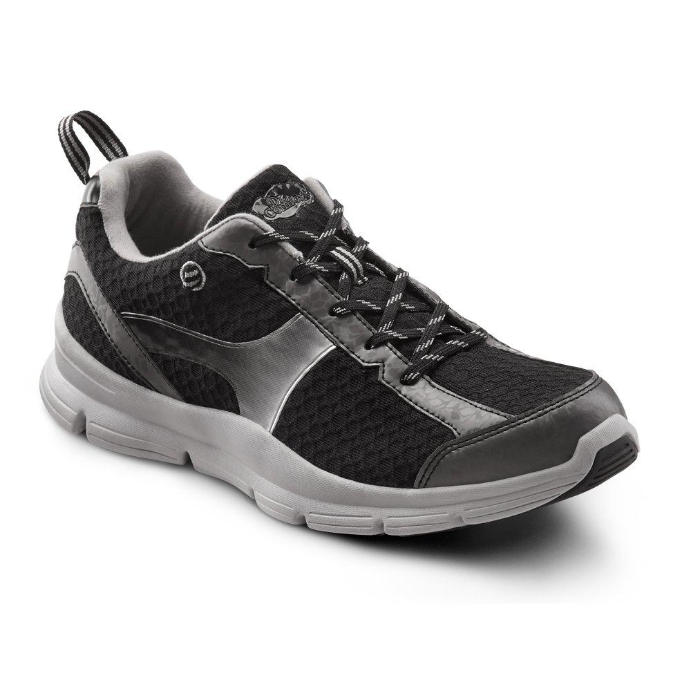 Dr. Comfort Chris Men's Therapeutic Extra Depth Athletic Shoe leather/mesh lace-up B00L2O6CEQ 10.0 Wide (E/2E) US Men|Black