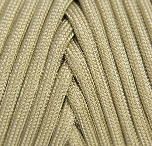 TOUGH-GRID 750lb Buckskin (Desert Sand) Paracord/Parachute Cord - Genuine Mil Spec Type IV 750lb Paracord Used by The US Military (MIl-C-5040-H) - 100% Nylon - Made in The USA. 100Ft. - Buckskin by TOUGH-GRID (Image #2)