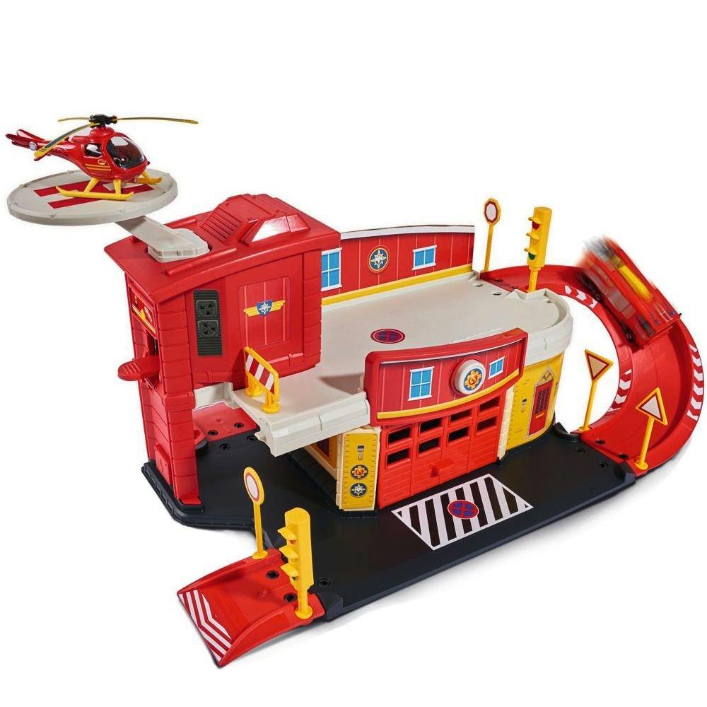 Feuerwehrmann Sam Sam Sam - Mini Die Cast Serie - Spiel Set Feuerwehrstation 83f6d1