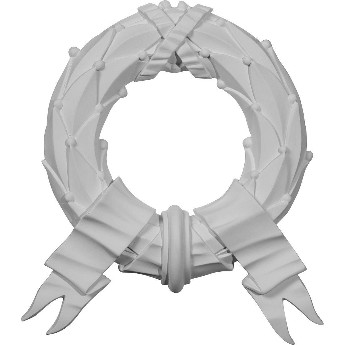 Ekena Millwork ONL10X11X01WR 10 1/4-Inch W X 11 3/8-Inch H X 1-Inch P Wreath Onlay