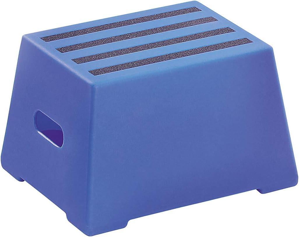 ultramarinblau Kunststoff-Tritt Steighilfe Tritt Kunststoff-Tritt mit rutschfesten Stufen abwaschbar gepr/üft nach EN 14183:2003E 2 Stufen