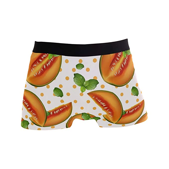 e7218ad62b2d Image Unavailable. Image not available for. Color: Mkuell Hami Melon  Pattern Comfortable Men's Boxer Briefs Multi-Size Soft Underwear S