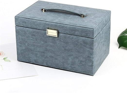 Joyero Joyero caja de almacenamiento espejo incorporado con cierre ...