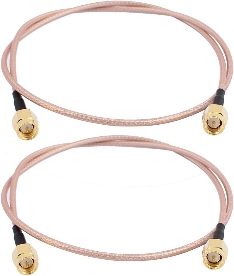 GTIWUNG 2 Piezas SMA Cable SMA Macho a SMA Macho Conector Cable de Extensión RG316 SMA Cable de Antena para Homematic CCU3 CCU2 CC1101 Raspberry Pi ...